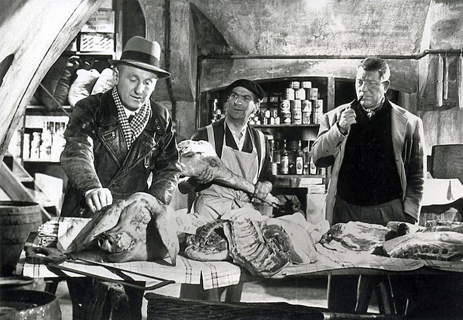 Bourvil, Louis de Funès et Jean Gabin dans La Traversée de Paris (Claude Autant-Lara, 1956)