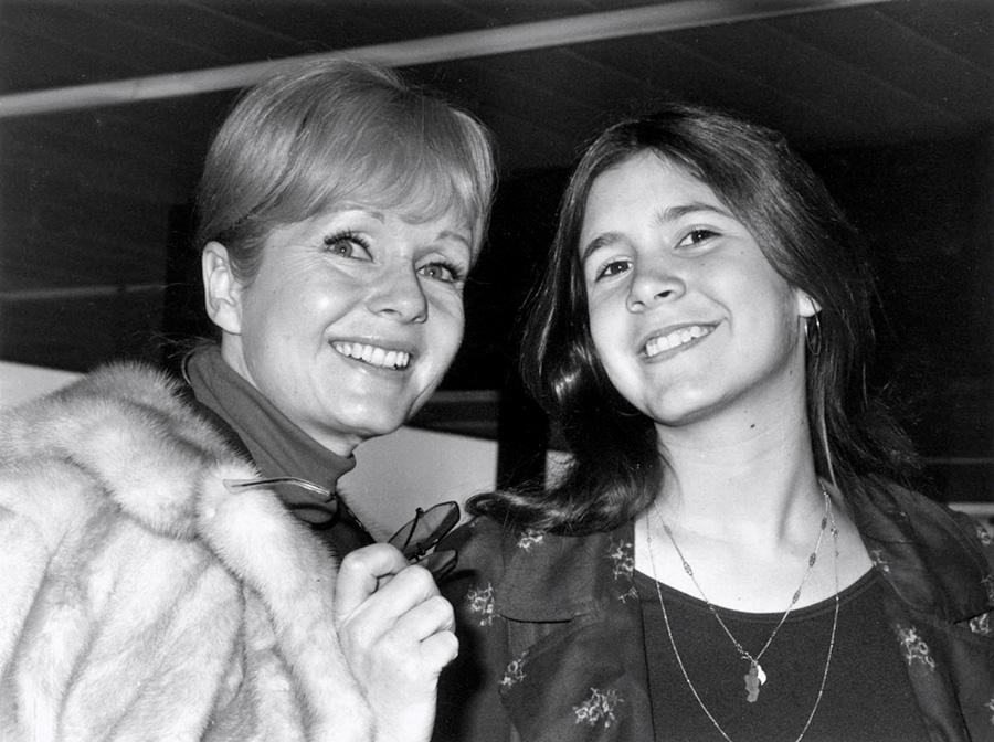 Debbie Reynolds et Carrie Fisher © Dove/Evening Standard/Getty