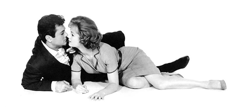 Tony Curtis et Debbie Reynolds dans Les Pièges de Broadway (Robert Mulligan, 1960)