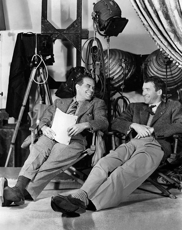 Frank Capra et James Stewart sur le plateau de La Vie est belle (1946)