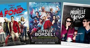 sorties Comédie du 21 décembre 2016 : À fond, Joyeux bordel !, La Prunelle de mes yeux.