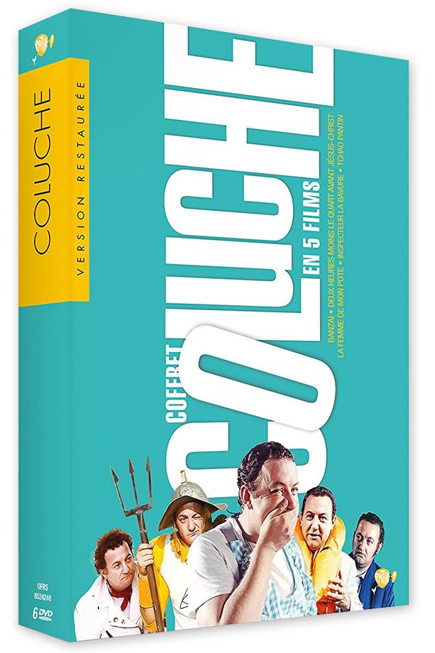 coffret Coluche 5 films (Inspecteur La Bavure - Banzaï - La Femme de mon pote - 2 heures moins le quart avant Jésus-Christ - Tchao pantin) - Blu-ray