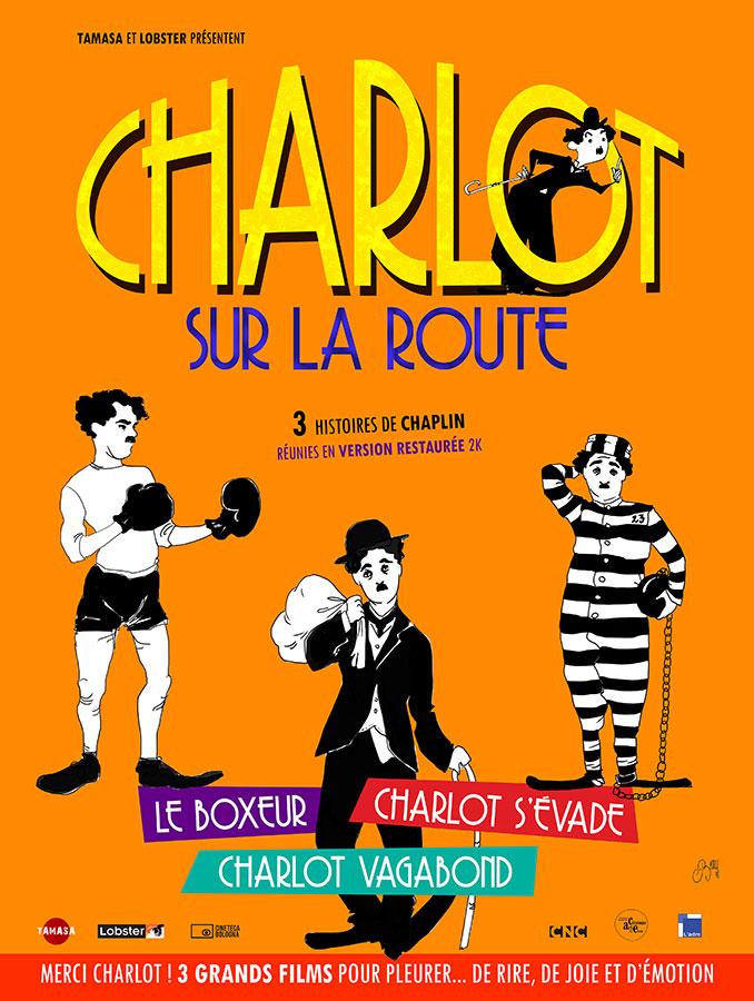 Charlot sur la route - 3 films de Charlie Chaplin : Charlot s'évade, Charlot vagabond, Le Boxeur.
