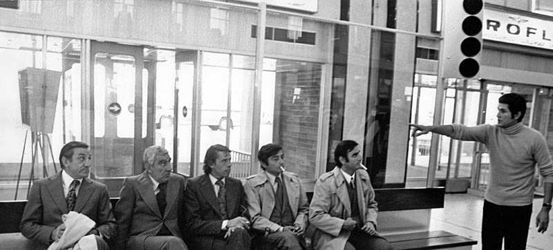 Claude Lelouch dirige ses comédiens - Tournage L'Aventure c'est l'aventure (1972)
