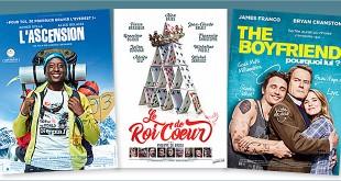 sorties Comédie du 25 janvier 2017 : L'Ascension, The Boyfriend - Pourquoi lui ?, Le Roi de cœur (reprise), Les Bronzés font du ski (reprise).