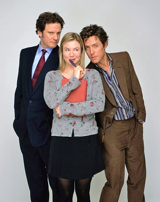 Colin Firth, Renee Zellweger et Hugh Grant dans Le Journal de Bridget Jones (Sharon Maguire, 2001)
