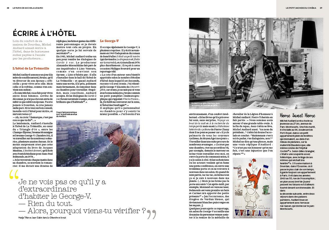 Le Paris de Michel Audiard de Philippe Lombard (Éditions Parigramme) - Écrire à l'hôtel