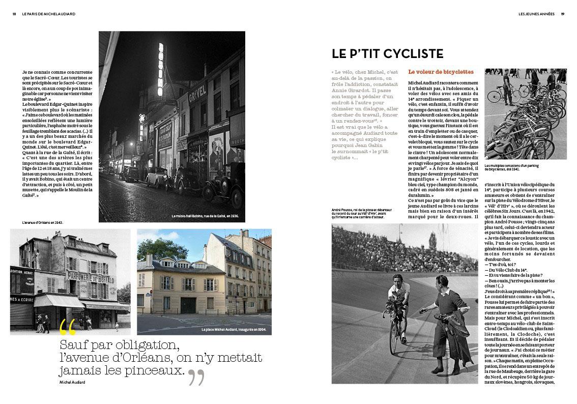 Le Paris de Michel Audiard de Philippe Lombard (Éditions Parigramme) - Le P'tit Cycliste