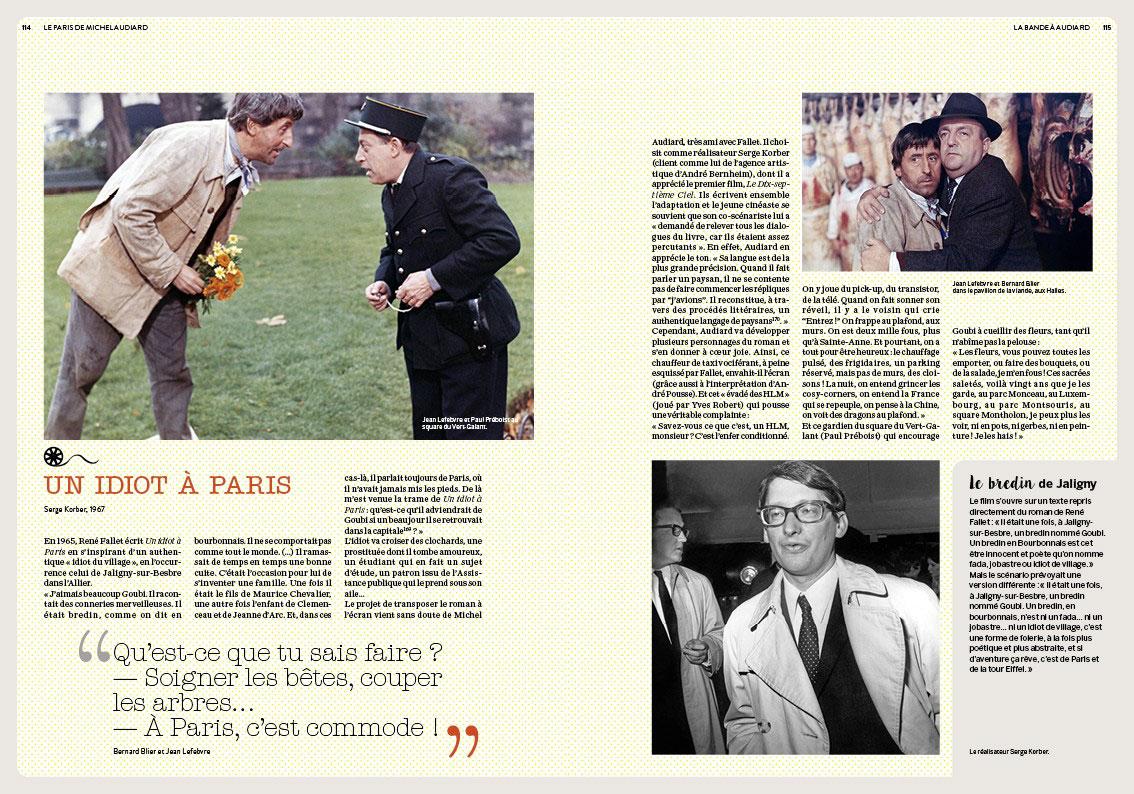 Le Paris de Michel Audiard de Philippe Lombard (Éditions Parigramme) - Un idiot à Paris