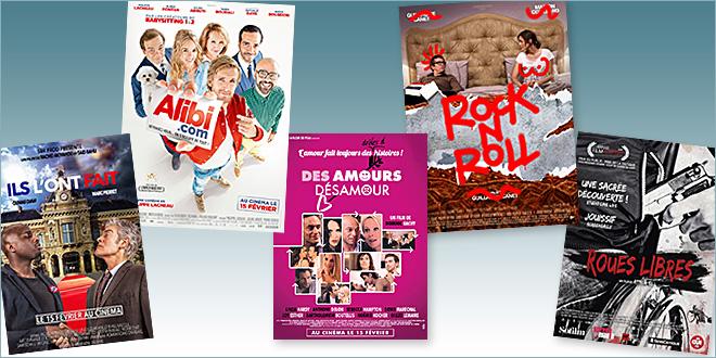 sorties Comédie du 15 février 2017 : Alibi.com, Rock'n roll, Roues libres, Des amours désamour, Ils l'ont fait