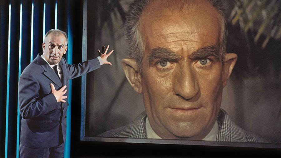 Louis de Funès dans Fantômas se déchaîne (André Hunebelle, 1965)