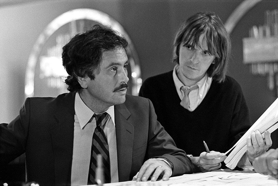 Victor Lanoux et Jean-Marie Poiré sur le tournage de Retour en force (1980) - © Gaumont