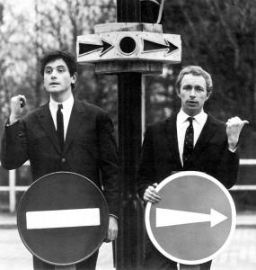 Pierre Richard et Victor Lanoux dans les années 1960 - © collection personnelle Pierre Richard