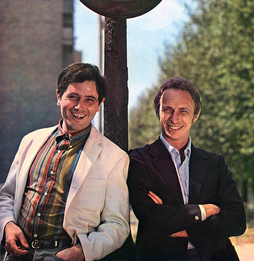 Victor Lanoux et Pierre Richard dans les années 1960 - © collection personnelle Pierre Richard