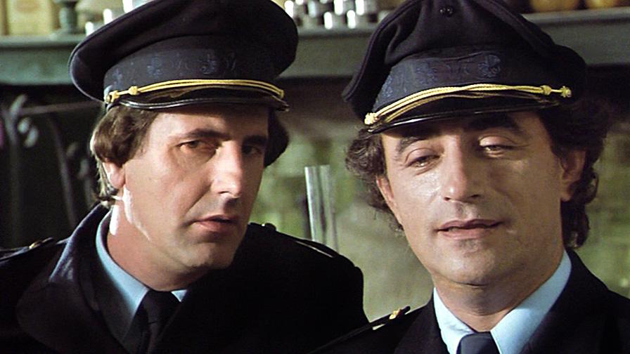 Bernard Menez et Richard Bohringer dans Les Saisons du plaisir (Jean-Pierre Mocky, 1988)