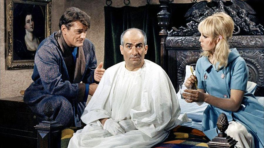 Jean Marais, Louis de Funès et Mylène Demongeot Fantômas contre Scotland Yard (André Hunebelle, 1967) - © Gaumont