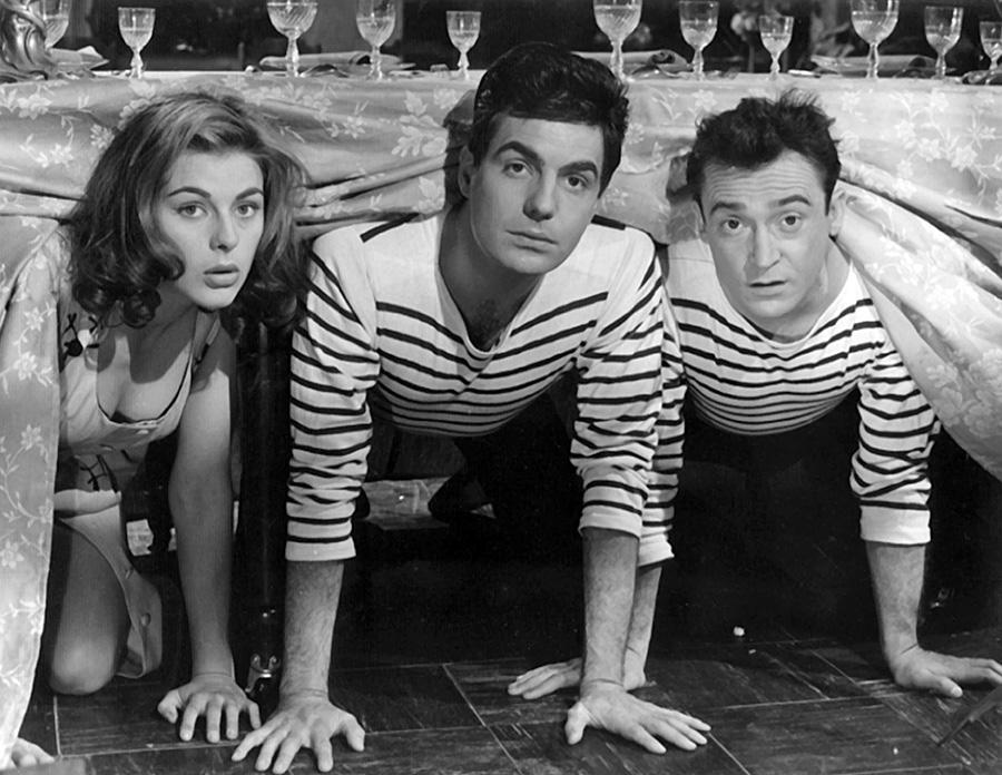 Michèle Girardon, Roger Pierre et Jean-Marc Thibault dans Vive les vacances (Jean-Marc Thibault, 1958)