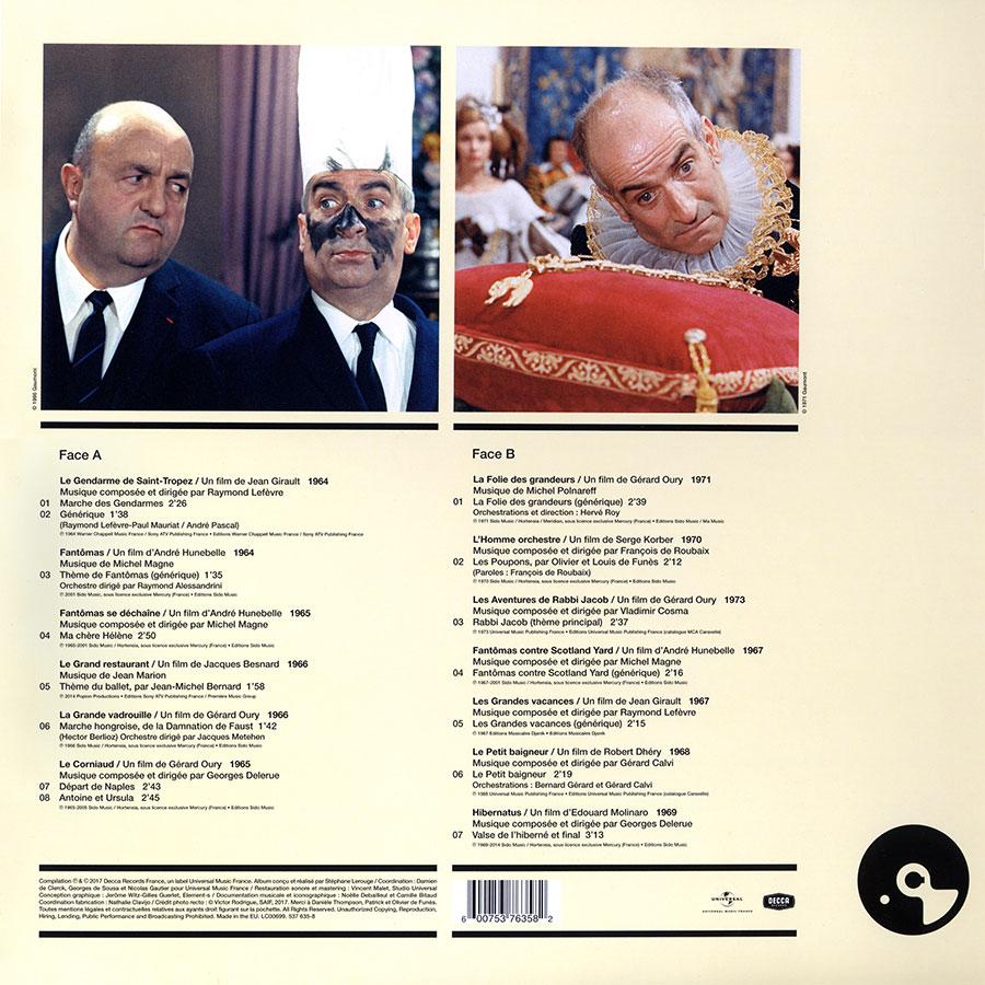 Louis de Funès - Musiques de Films / 1964-1973 (Universal Music France) - Verso
