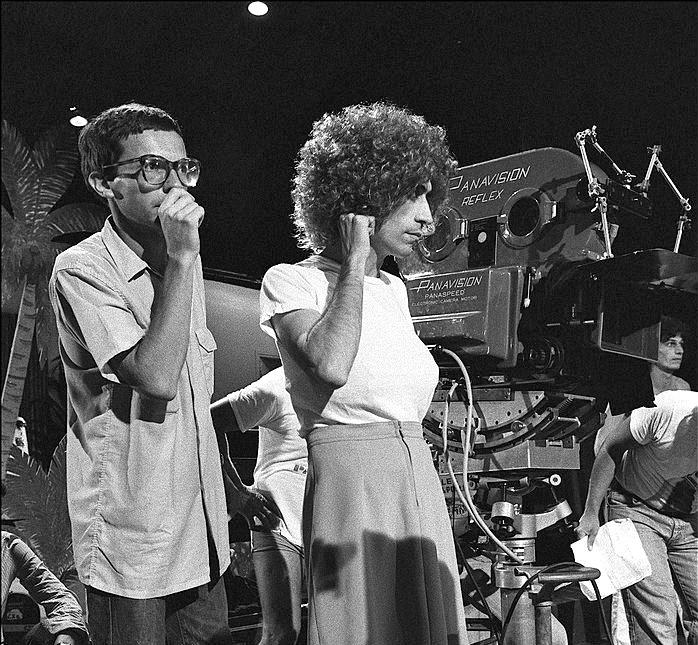 Patrice Leconte et Luis Rego sur le tournage des Bronzés - © Daniel Simon