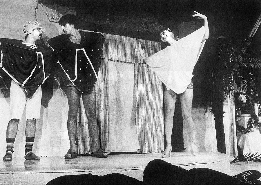 Gérard Jugnot, Thiery Lhermitte et Marie-Anne Chazel dans Amour, Coquillages et Crustacés (1977) - D.R. Splendid