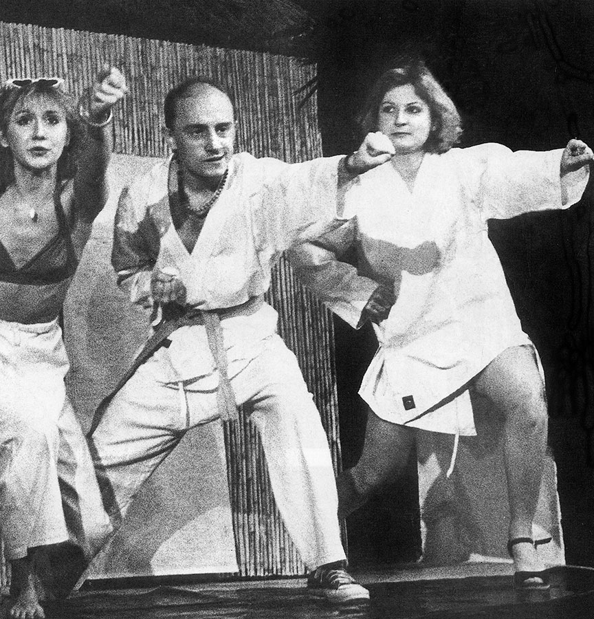 Marie-Anne Chazel, Michel Blanc et Josiane Balasko dans Amour, Coquillages et Crustacés (1977) - D.R. Splendid