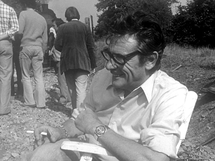 Robert Lamoureux en septembre 1975 sur le tournage de On a retrouvé la 7ème compagnie !