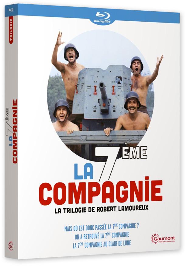 Trilogie La 7ème Compagnie de Robert Lamoureux - coffret Blu-ray