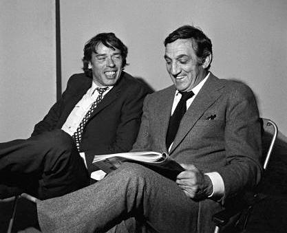 Jacques Brel et Lino Ventura sur le tournage de L'Emmerdeur (Édouard Molinaro, 1973)