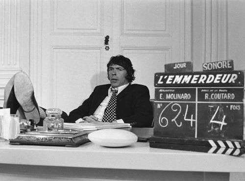 Jacques Brel sur le tournage de L'Emmerdeur (Édouard Molinaro, 1973)