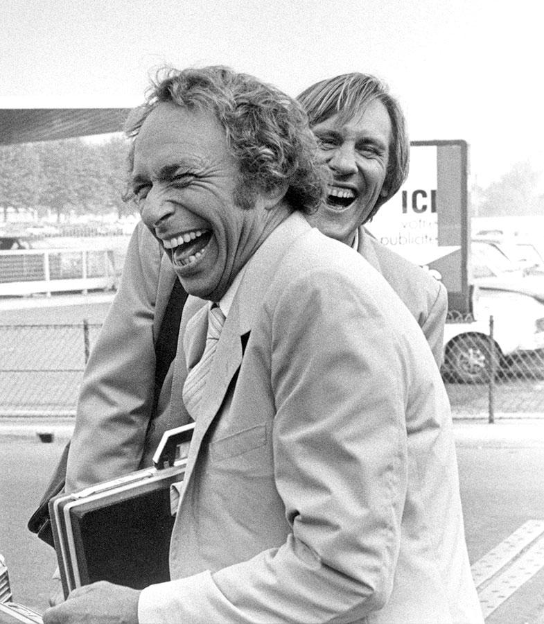 Pierre Richard et Gérard Depardieu sur le tournage de La Chèvre (Francis Veber, 1981) - © Jacky Coolen / Gamma-Rapho