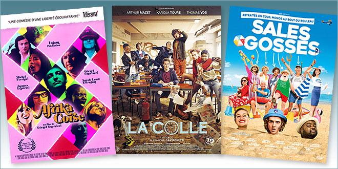 sorties Comédie du 19 juillet 2017 : Afrika Corse, La Colle, Sales gosses