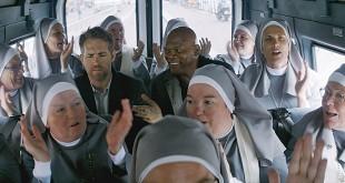 Ryan Reynolds et Samuel L. Jackson dans Hitman & Bodyguard (Patrick Hughes, 2017)