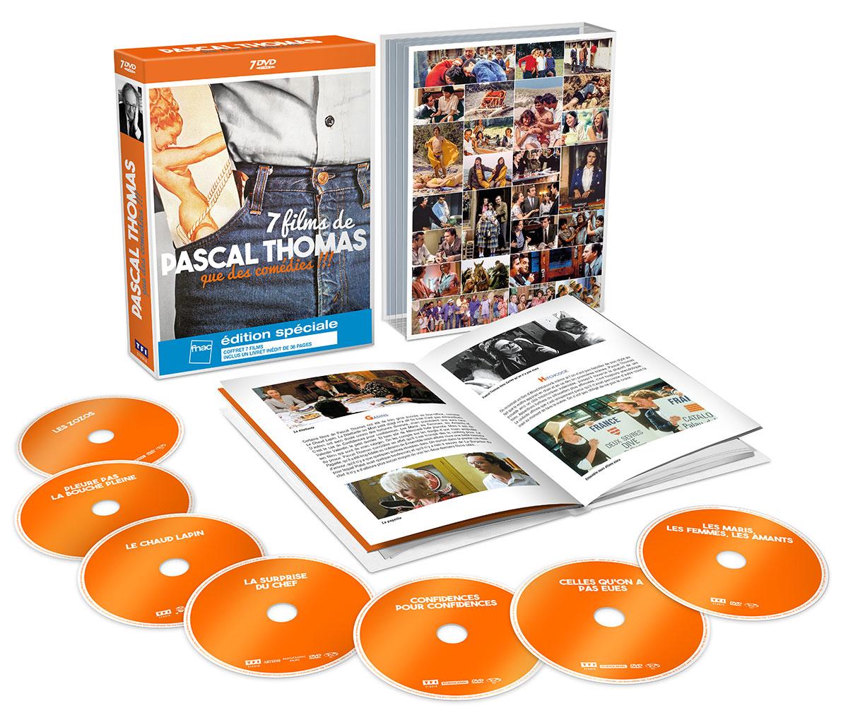 7 comédies de Pascal Thomas en coffret DVD (TF1 Vidéo)