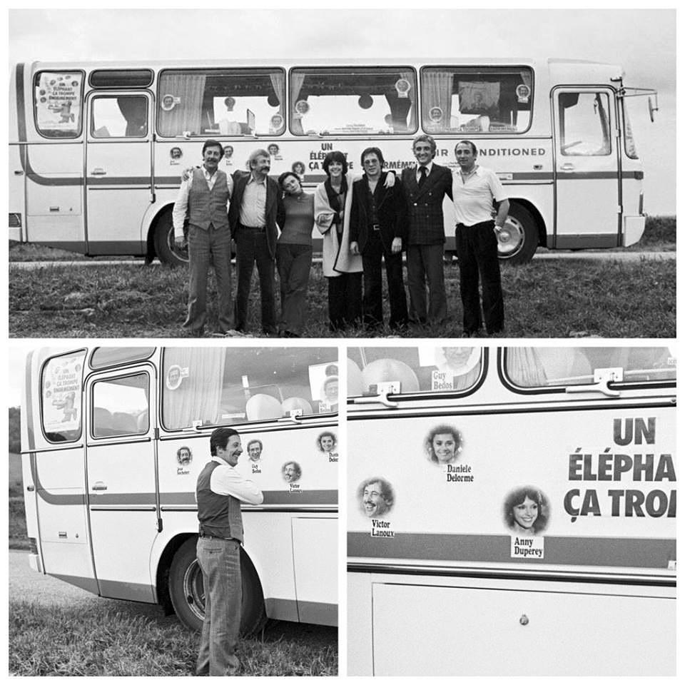 """Bus de la tournée province de Un éléphant ça trompe énormément"""" en 1976."""