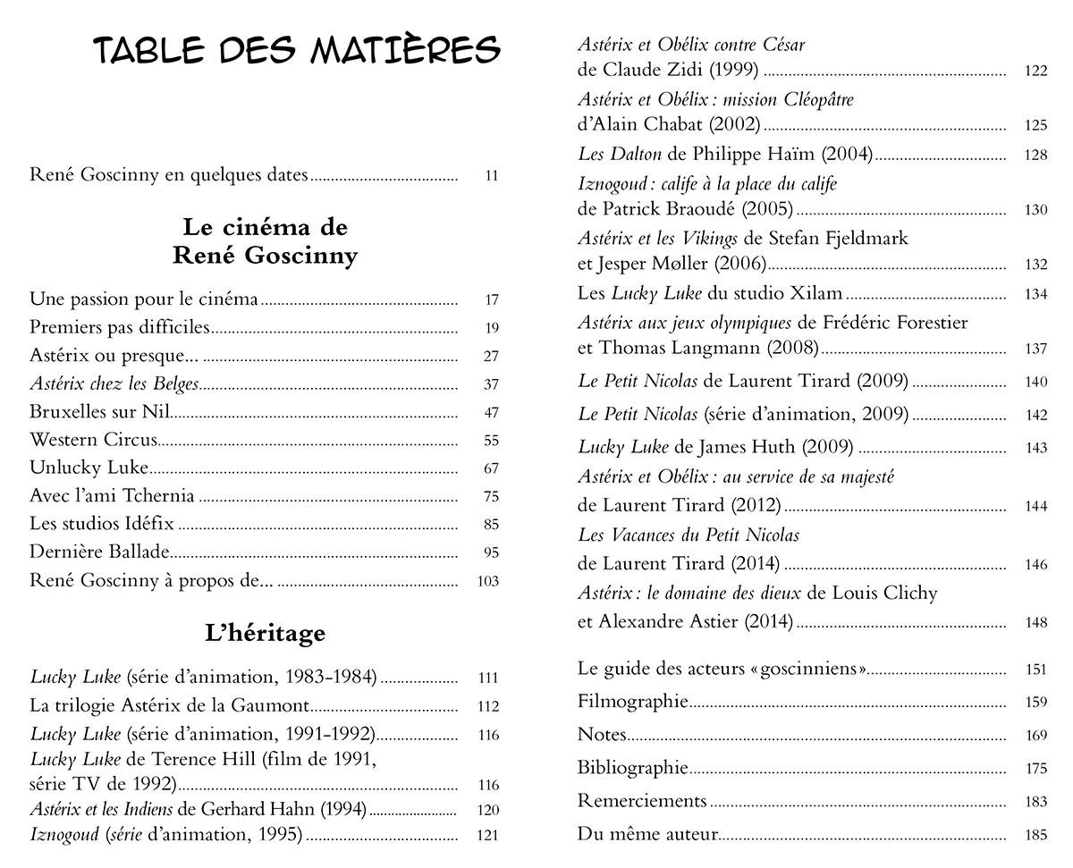 Goscinnyscope de Philippe Lombard (Dunod) - Table des matières