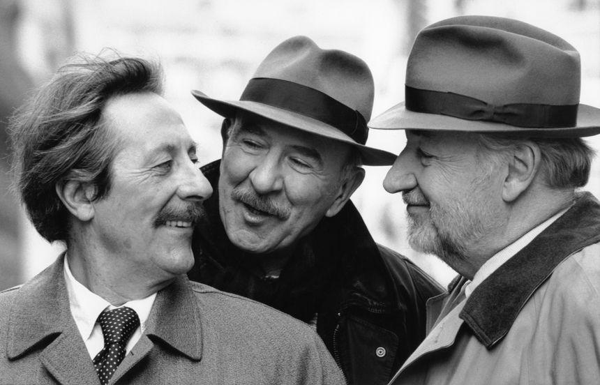 Jean Rochefort, Jean-Pierre Marielle et Philippe Noiret dans Les Grands Ducs (Patrice Leconte, 1996) - © Maxppp