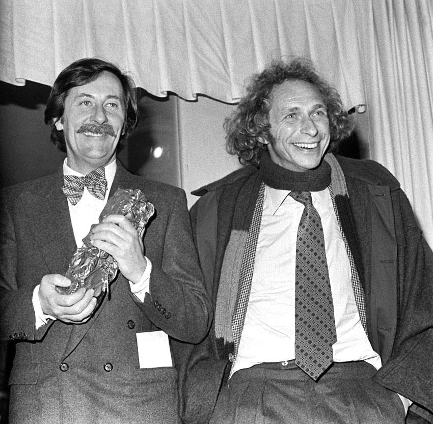 Jean Rochefort et Pierre Richard en 1976 aux César du cinéma