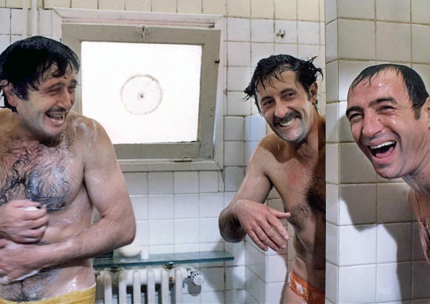 Victor Lanoux, Jean Rochefort et Claude Brasseur dans Un éléphant ça trompe énormément (Yves Robert, 1976) - © Gaumont