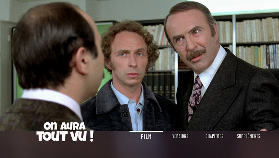 On aura tout vu ! (Georges Lautner, 1976) - Menu du Blu-ray