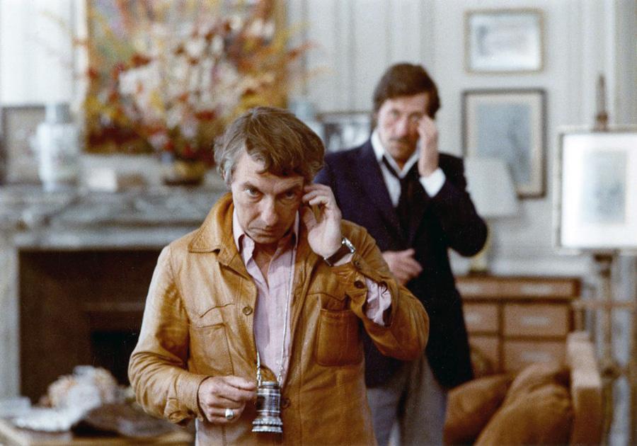 Philippe de Broca et Jean rochefort en 1978 sur le tournage du film Le Cavaleur - © Alex Productions