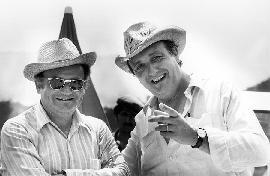 René Goscinny et Pierre Tchernia le 20 juillet 1971 sur le tournage du Viager - © Fonds d'archives Institut René Goscinny
