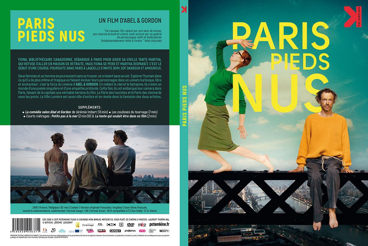 Paris pieds nus (Abel & Gordon, 2016) - DVD Digipack recto-verso (Potemkine)
