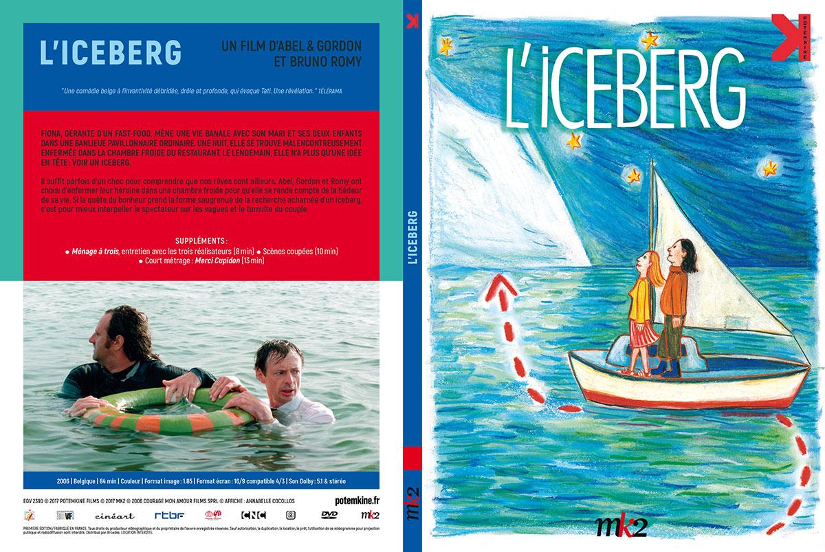 L'Iceberg (Abel & Gordon, 2005) - DVD Digipack recto-verso (Potemkine)