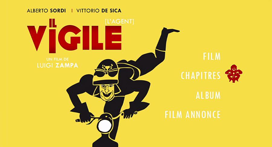 Il vigile (L'Agent, 1960) de Luigi Zampa - Menu DVD