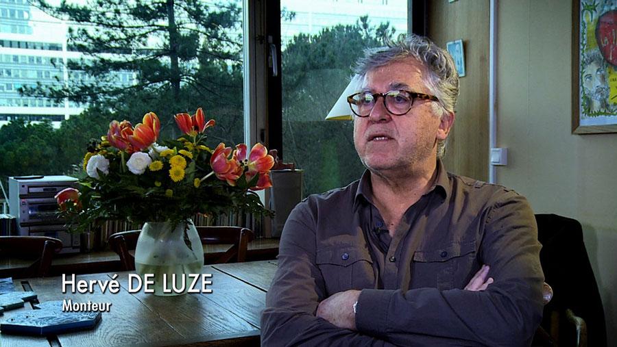 Hervé de Luze dans le documentaire Coluche fait son cinéma