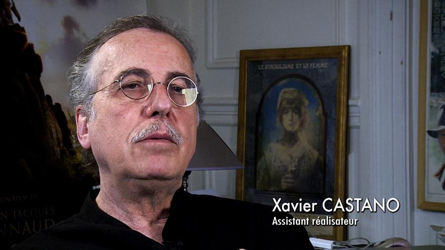 Xavier Castano dans le documentaire Coluche fait son cinéma