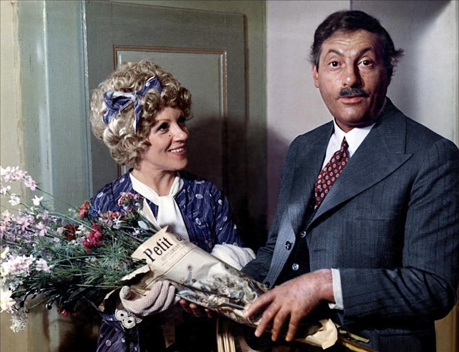 Odette Laure et Michel Serrault dans Le Viager (Pierre Tchernia, 1972)