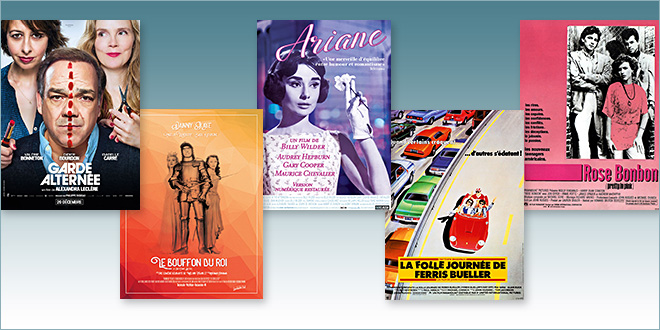 Sorties Comédie du 20 décembre 2017 : Garde alternée, Le Bouffon du roi (1955), Ariane (1957), La Folle journée de Ferris Bueller/Rose bonbon (1986)