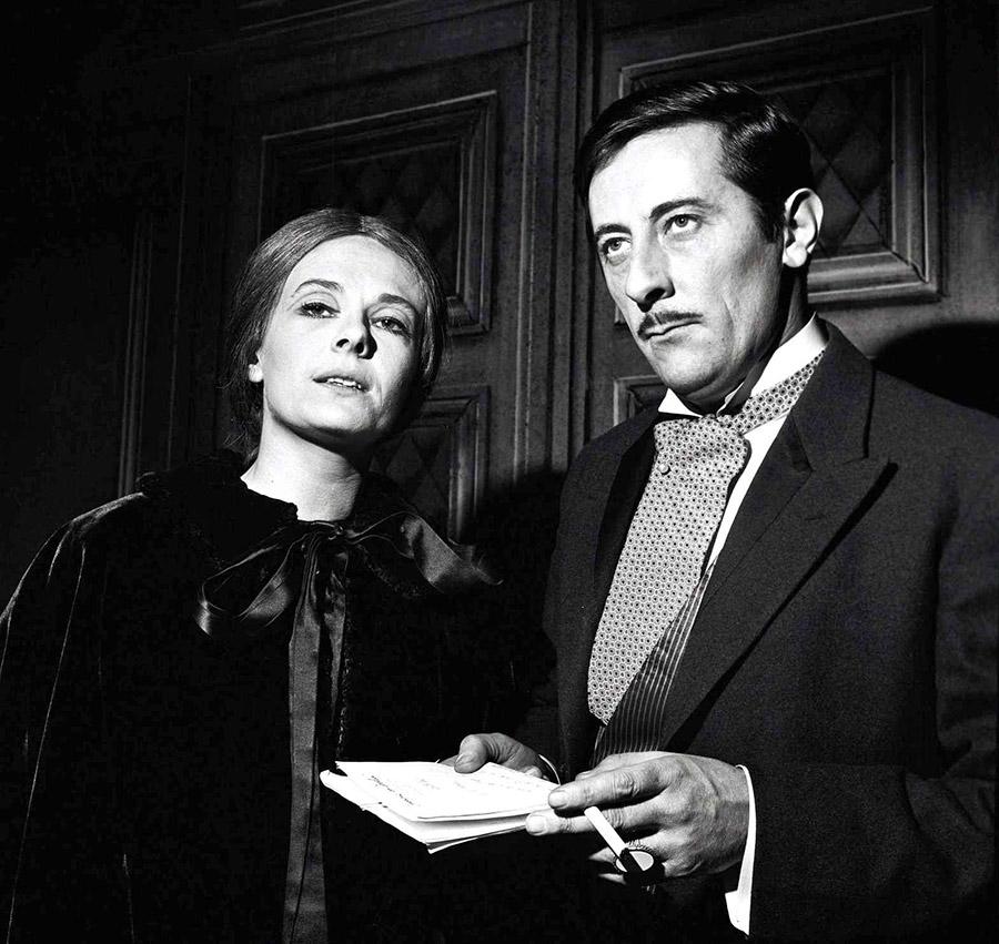 Delphine Seyrig et Jean Rochefort au théâtre dans les années 1950