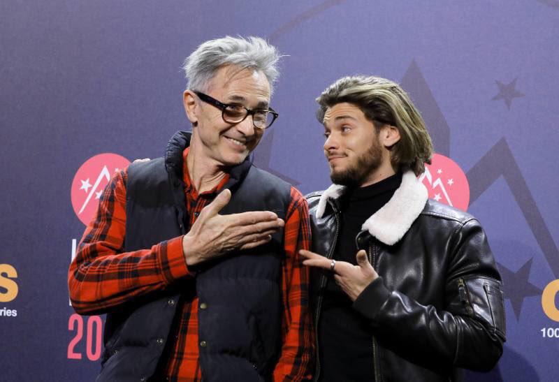 Thierry Lhermitte et Rayane Bensetti au Festival de comédie de l'Alpe d'Huez 2018